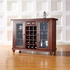 Buy Crosley Furniture Cambridge Sliding Top Bar Cabinet in Vintage Mahogany on sale online