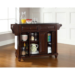 Buy Crosley Furniture Cambridge Solid Black Granite Top Kitchen Island in Vintage Mahogany on sale online