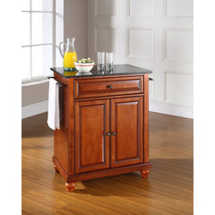 Buy Crosley Furniture Cambridge 28x18 Solid Black Granite Top Portable Kitchen Island in Classic Cherry on sale online