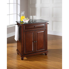 Buy Crosley Furniture Cambridge 28x18 Solid Black Granite Top Portable Kitchen Island in Vintage Mahogany on sale online