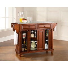 Buy Crosley Furniture Cambridge 52x18 Solid Granite Top Kitchen Island in Classic Cherry on sale online