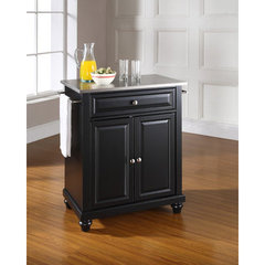 Buy Crosley Furniture Cambridge 28x18 Stainless Steel Top Portable Kitchen Island in Black on sale online