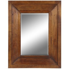 Buy Cooper Classics Canon Mirror in Natural Rustic Wood on sale online