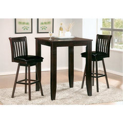 Buy Canterbury Dylan 3 Piece 32x32 Inch Swivel Pub Table Set on sale online