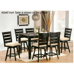 Buy Canterbury Jeffie 3 Piece 40x40 Inch Swivel Pub Table Set on sale online