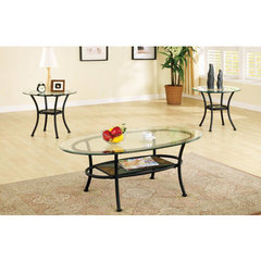 Buy Steve Silver Carolyn 3 Piece Occasional Table Set in Black on sale online
