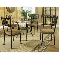 Buy Steve Silver Carolyn 5 Piece 45 Inch Round Dining Room Set on sale online