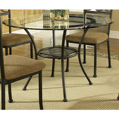 Buy Steve Silver Carolyn Glass Top 45 Inch Round Dining Table on sale online