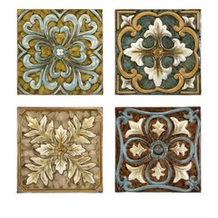 Buy IMAX Worldwide Casa Medallion Tiles (Set of 4) on sale online
