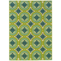 Buy Oriental Weavers Sphinx Caspian Casual Green Rug - CSP-8328W on sale online