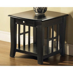Buy Steve Silver Cassidy 28x23 End Table in Black on sale online