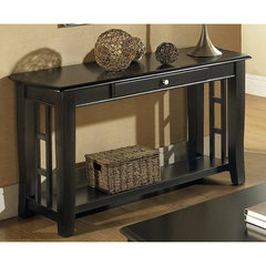 Buy Steve Silver Cassidy 50x18 Sofa Table in Black on sale online