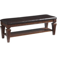 Buy Cooper Classics Charleton Lodge Bench in Distressed Chestnut on sale online