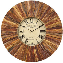 Buy Cooper Classics Chatham Clock in Natural Rustic Wood on sale online
