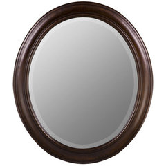Buy Cooper Classics Chelsea 30x26 Oval Mirror in Tobacco on sale online