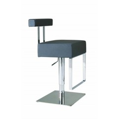 Buy Chintaly Imports 0812 Adjustable Height Swivel Stool w/ Pneumatic Gas Lift in Black on sale online