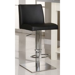 Buy Chintaly Imports 0814 Adjustable Height Swivel Stool w/ Pneumatic Gas Lift in Black on sale online