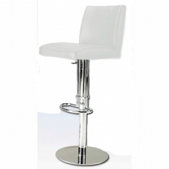 Buy Chintaly Imports 0814 Adjustable Height Swivel Stool w/ Pneumatic Gas Lift in White on sale online