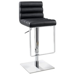 Buy Chintaly Imports 0830 Adjustable Height Swivel Stool w/ Pneumatic Gas Lift in Black on sale online