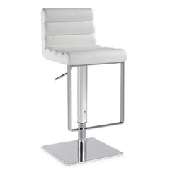 Buy Chintaly Imports 0830 Adjustable Height Swivel Stool w/ Pneumatic Gas Lift in White on sale online