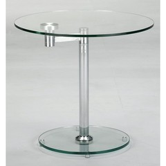 Buy Chintaly Imports 24x24 Motion Oval Glass Cocktail Table w/ Rotating Top on sale online