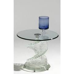 Buy Chintaly Imports 24 Inch Round Glass Lamp Table on sale online