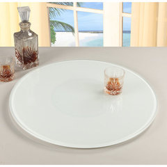 Buy Chintaly Imports 24 Inch Round Glass Rotating Tray in White on sale online