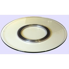 Buy Chintaly Imports 24 Inch Round Glass Spinning Lazy Suzan Tray on sale online