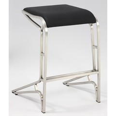 Buy Chintaly Imports 26 Inch Backless Contemporary Counter Stool in Black on sale online