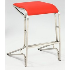 Buy Chintaly Imports 26 Inch Backless Contemporary Counter Stool in Red on sale online