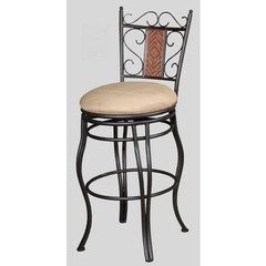 Buy Chintaly Imports 26 Inch Contemporary Counter Stool w/ Round Seat and Memory Swivel on sale online