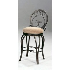 Buy Chintaly Imports 26 Inch Counter Stool w/ Memory Return Swivel and Windsor Back on sale online