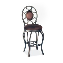 Buy Chintaly Imports 26 Inch Counter Stool w/ Oval Back and Swivel Memory Return on sale online