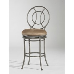 Buy Chintaly Imports 26 Inch Counter Stool w/ Round Back and Swivel Memory Return on sale online