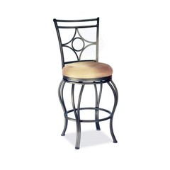 Buy Chintaly Imports 26 Inch Transitional Counter Stool w/ Low Round Seat and Memory Swivel on sale online