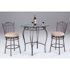 Buy Chintaly Imports 3 Piece 36 Inch Round Pub Table Set in Antique on sale online
