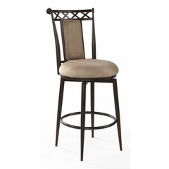 Buy Chintaly Imports 30 Inch Bar Stool w/ Memory Return Swivel in Taupe on sale online