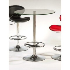 Buy Chintaly Imports Round 30x30 Pub Table w/ Glass Top on sale online
