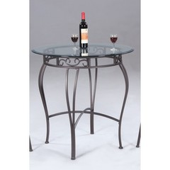 Buy Chintaly Imports 36x36 Round Pub Table w/ Glass Top on sale online