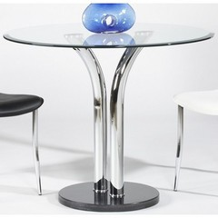 Buy Chintaly Imports 36 Inch Round Pub Table w/ Glass Top on sale online