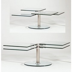 Buy Chintaly Imports 40 Inch Square Westin Cocktail Table in Chrome on sale online