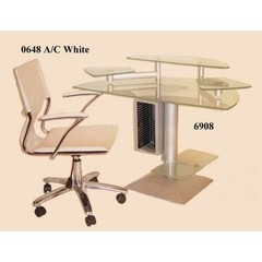 Buy Chintaly Imports 40x24 Computer Desk w/ Glass Top on sale online
