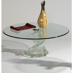 Buy Chintaly Imports 42 Inch Round Glass Cocktail Table on sale online