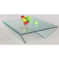Buy Chintaly Imports 42x40 Square Bent Glass Cocktail Table on sale online