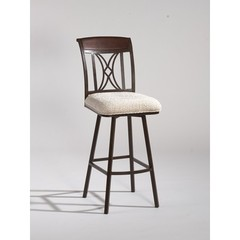Buy Chintaly Imports 43.7 Inch Counter Stool w/ Memory Return Swivel in Autumn Rust on sale online