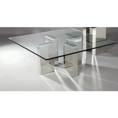 Buy Chintaly Imports Sabrina 43 Inch Square Polished Coffee Table on sale online