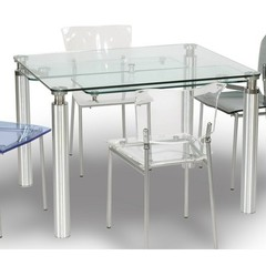 Buy Chintaly Imports 43x30 Dining Table w/ Glass Top on sale online