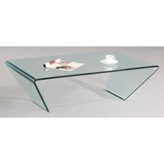 Buy Chintaly Imports 46x28 Rectangle Bent Glass Cocktail Table on sale online