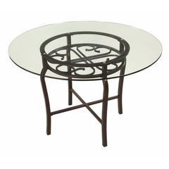 Buy Chintaly Imports 48x48 Round Dining Table w/ Glass Top on sale online