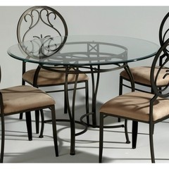 Buy Chintaly Imports 48 Inch Round Table w/ Glass Top on sale online